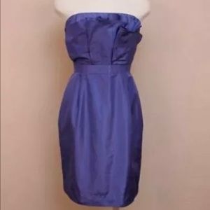 🦋 J. Crew Strapless Silk Taffeta Mika Dress